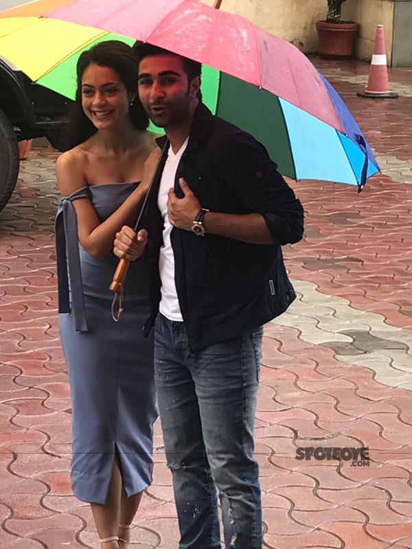 aadar jain and anya singh snapped at qaidi band trailer launch