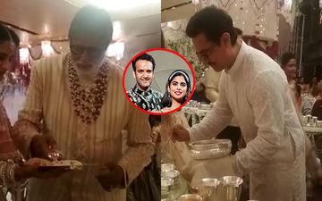 ईशा अंबानी की वेडिंग में अमिताभ बच्चन और आमिर खान ने दिखाया बड़ा दिल, मेहमानों को खाना परोसते आए नजर