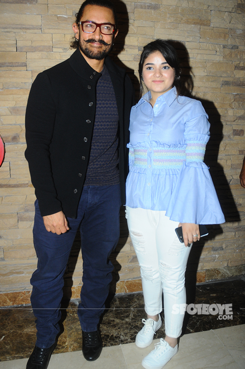 aamir khan and zaira wasim at secret superstar promotions