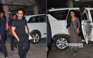Aamir Khan & Fatima Sana Shaikh Watch Hichki In Jodhpur