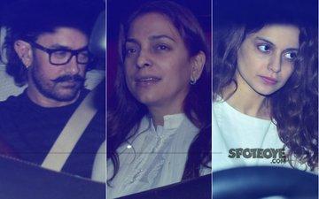 Aamir Khan, Juhi Chawla & Kangana Ranaut At Boney Kapoor's House To Condole Sridevi's Demise