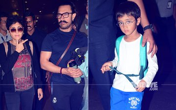 Aamir Khan & Family Return From Their Year-End Holiday In Goa