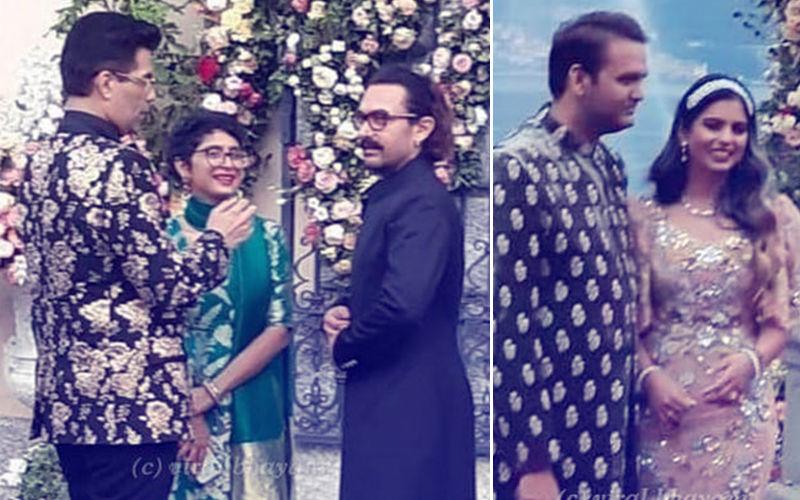 ईशा अंबानी और आनंद पीरामल की सगाई पार्टी में शमिल हुए आमिर खान, किरण राव और करण जौहर, देखें तस्वीरें