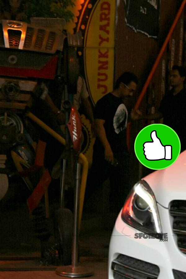 aamir khan snapped leaving a spa in the city