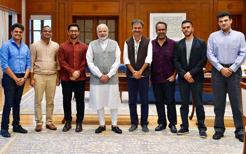 Aamir Khan, Rajkumar Hirani, Aanand L Rai, Siddharth Roy Kapur Meet Prime Minister, Narendra Modi