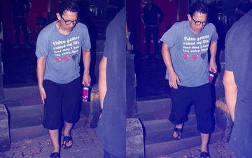 ठग्स ऑफ़ हिंदोस्तान के प्रमोशन से पहले आमिर खान हुए घायल, ठीक से चलने में भी हो रही है परेशानी