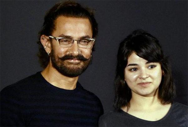 aamir khan with zaira wasim