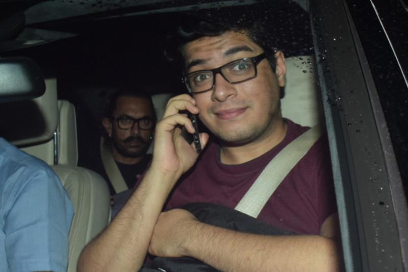 aamir with son junaid khan