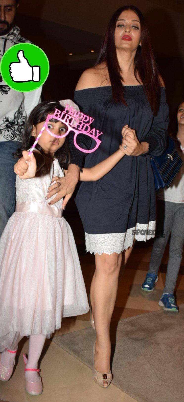 aaradhya and aishwarya rai bachchan at the birthday party