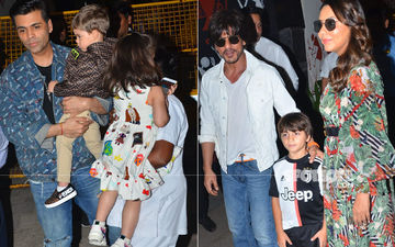 Aaradhya Bachchan Birthday Party: Karan Johar With Kids, Shah Rukh Khan And Gauri Khan With AbRam - Stars And Their Kids Arrive In Style