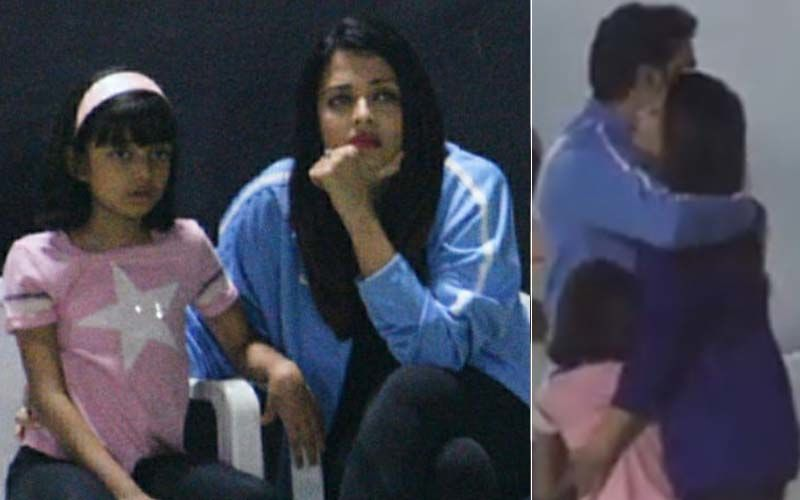 Aaradhya Runs To Abhishek Bachchan As Aishwarya Rai Gets Her To Watch Daddy's Football Game- Video