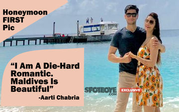 Aarti Chabria Enjoying Exotic Honeymoon In Maldives, Releases Its First Picture On SpotboyE.com