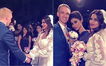 Brent Goble Sings A Song For Aashka Goradia; Mouni Roy Makes For A Perfect Bridesmaid