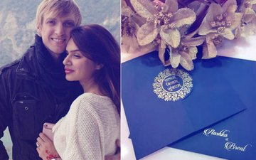 You're Invited! Here's Aashka Goradia & Brent Goble's Wedding Card