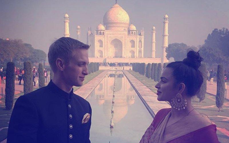 Aashka Goradia & Brent Goble Share First Pic Post Wedding From The Taj Mahal