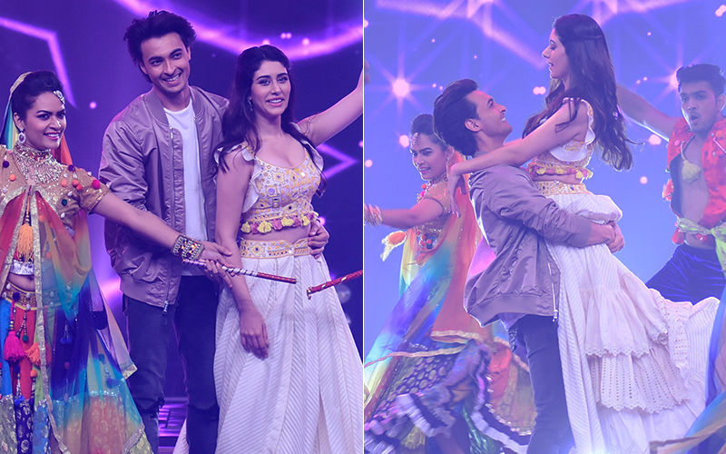 Aayush Sharma And Warina Hussain Enthral Audiences With Their Dandiya Moves