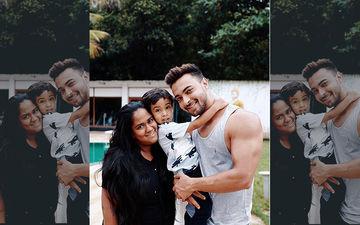 Amid Rumours Of Baby No 2, Aayush Sharma Shares Family Portrait With Wife Arpita Khan And Son Ahil Sharma
