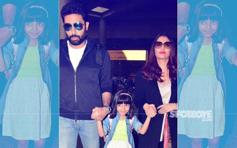SPOTTED: Abhishek Bachchan & Aishwarya Rai Return To India With Daughter Aaradhya