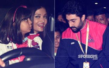 Aishwarya Rai & Aaradhya Accompany Abhishek Bachchan To The Pro Kabbadi League Match