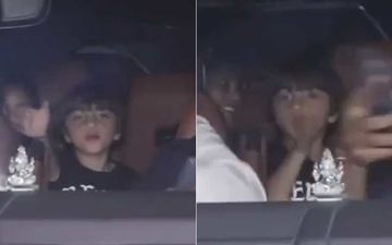 Shah Rukh Khan's Toddler AbRam Asks Paparazzi To 'Move Aside' And Make Way For His Car – Watch Video