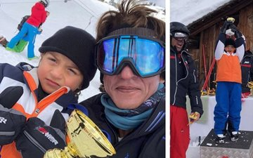Cuteness Overload: Shah Rukh Khan Vacationing With His Skiing Champion, AbRam