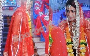Mahek Chahal shoots for Kavach on crutches