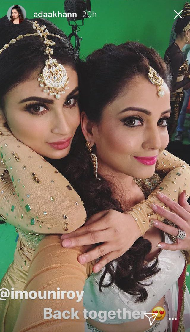 adaa khan and mouni roy take a selfie