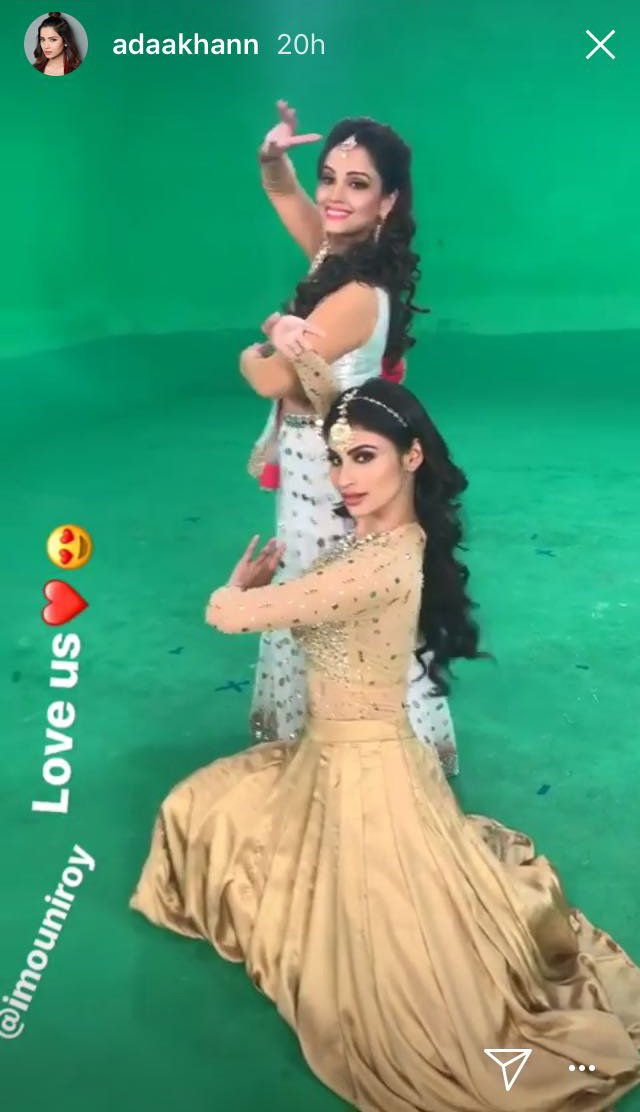 adaa khan with mouni roy
