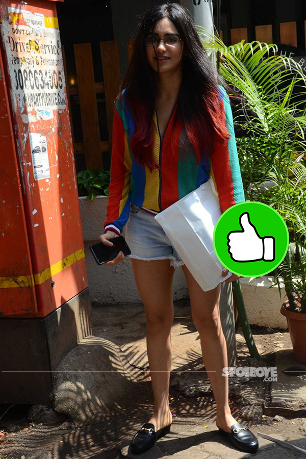 adah khan snapped outside out of the blue in bandra