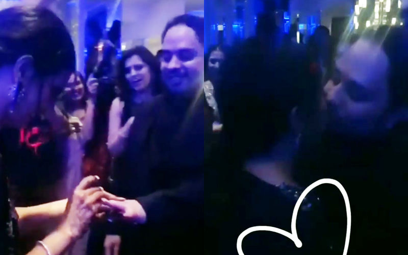 Additi Gupta Exchanges Ring With Kabir Chopra And Seals The Moment With A Kiss- Watch Video