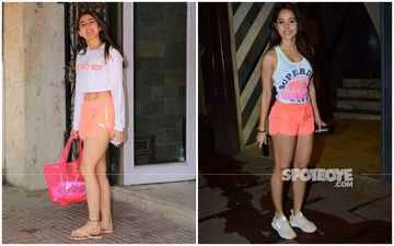 Sara Ali Khan Vs Nushrat Bharucha: Who Looked HOTTER In The Neon Orange And White Gym Gear?