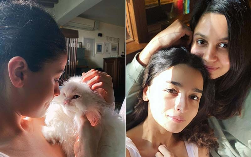Alia Bhatt Spends Her Sunday Relaxing At Home With Her Sister Shaheen Bhatt, Lovingly Cuddles Her 'Muse' Edward- PICS