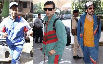 Varun Dhawan, Karan Johar And Dino Morea Give Tips On How To Rock Bright Tracksuits