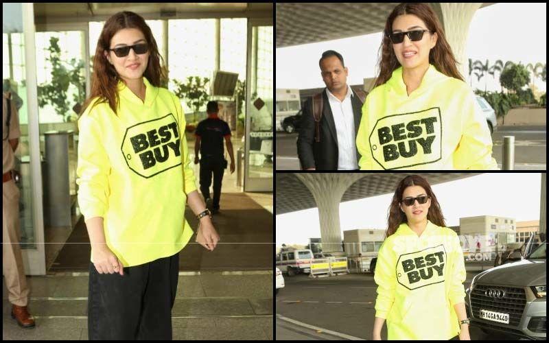 FASHION CULPRIT OF THE DAY: Kriti Sanon's 'Best Buy' Sweatshirt Is SADLY NOT The Best Buy!