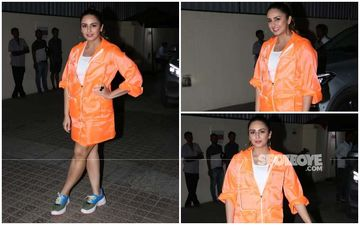 FASHION CULPRIT OF THE DAY: Huma Qureshi, Are You Serious About That Neon Jacket Dress?