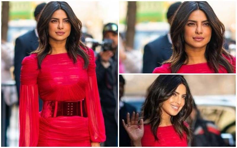 FASHION CULPRIT OF THE DAY: Priyanka Chopra Jonas, This Red Dress Is Not Fiercely Hot But Sign Of Danger!