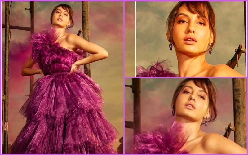 FASHION CULPRIT OF THE DAY: Nora Fatehi, That Purple Gown Is Total NO-SHOW!