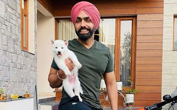Ammy Virk Shares An Adorable Picture With His New Furry Friend Barfi Virk