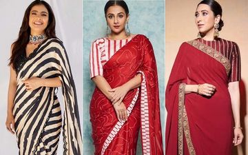 Kajol, Vidya Balan, Karisma Kapoor Show How To Rock Bold Stripes In Sarees