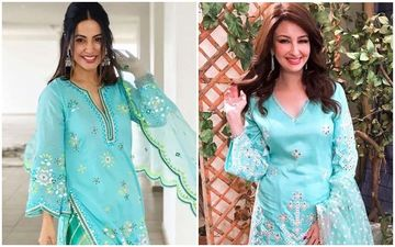 Hina Khan Or Saumya Tandon- Who Nailed The Turquoise Blue Sharara?