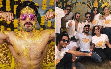 Varun Dhawan-Natasha Dalal Haldi Ceremony: Actor Flaunts His Biceps During The Ceremony