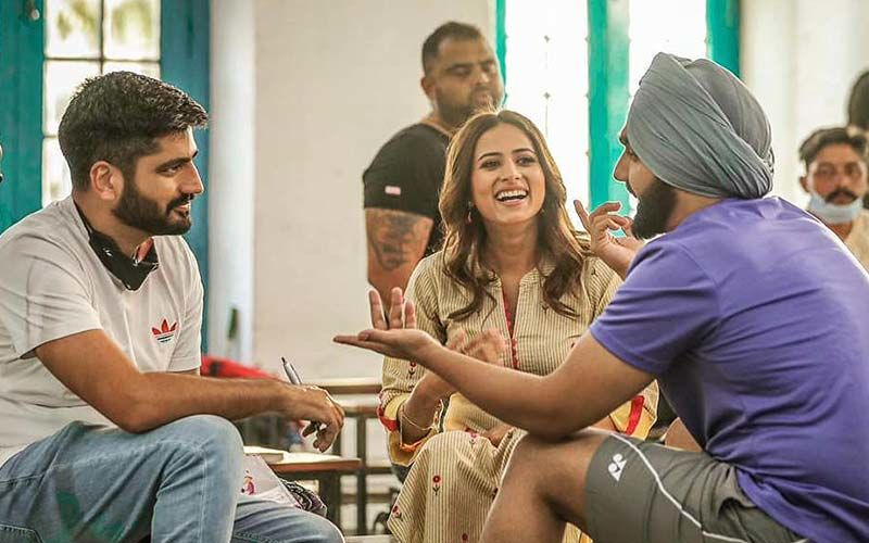 Sargun Mehta, Ammy Virk And Jagdeep Sidhu Snapped Together; Fans Cheer For 'Qismat 2'
