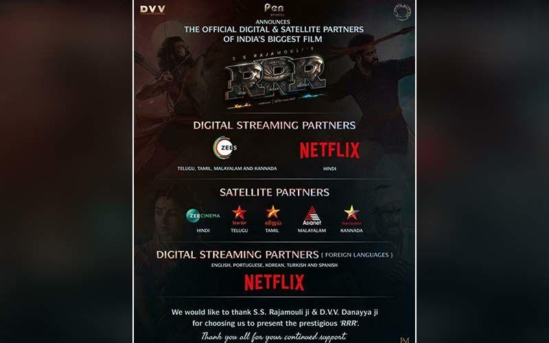 RRR: Pen Movies Announces The Official Digital & Satellite Partners For India's Biggest Film