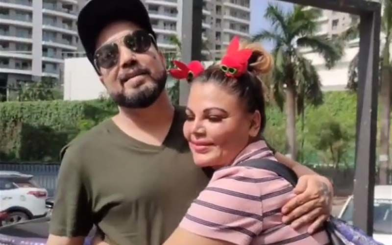 Rakhi Sawant And Mika Singh Hug It Out After The Kissing Controversy; Actress Says, 'Abhi Ham Log Dost Hai'- WATCH