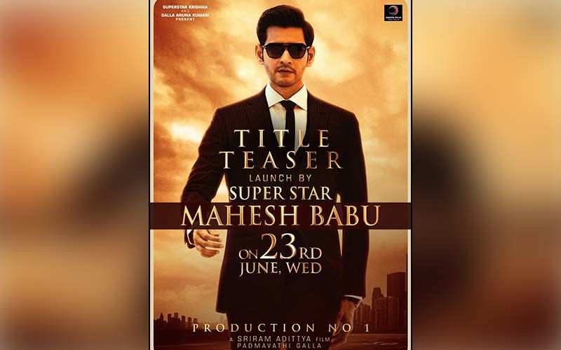 Production No1: Mahesh Babu To Reveal The Title Teaser Of  Nephew Ashok Galla's Debut Film; On 23 June