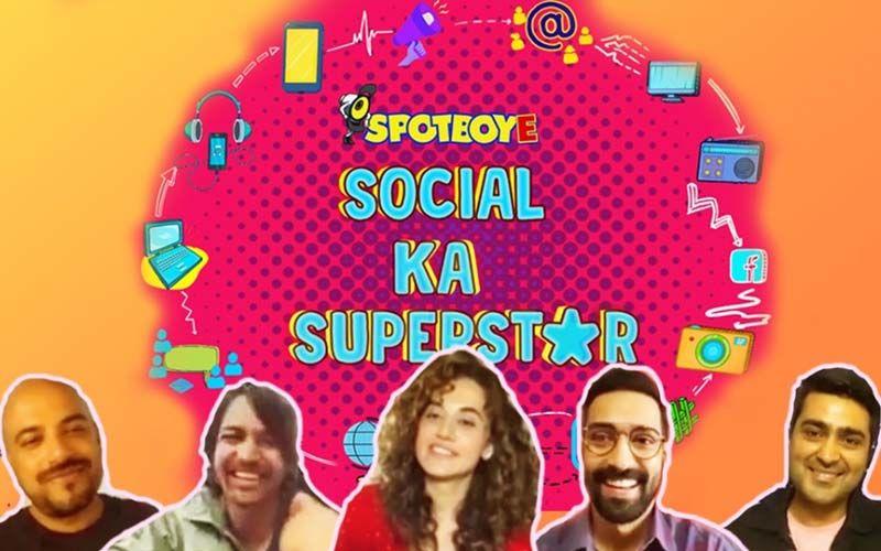 SpotboyE Launches 'Social Ka Superstar': 'Haseen Dillruba' Taapsee Pannu, Vikrant Massey And Harshvardhan Rane Make TOP SECRET Social Media Disclosures - VIDEO