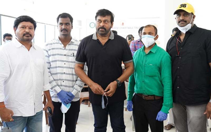 Chiranjeevi's CCT Starts Mega Vaccination Drive For Telugu Film Workers -CHECK PHOTOS