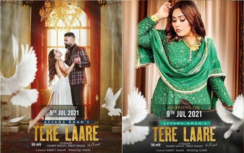 New Song Alert: Afsana Khan's 'Tere Laare' Ft. Amrit Maan And Wamiqa Gabbi Exclusive On 9X Tashan