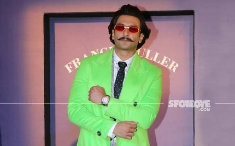 Ranveer Singh In This Green Gucci Tracksuit And Pearls Pushes His Fashion Boundaries Like Always