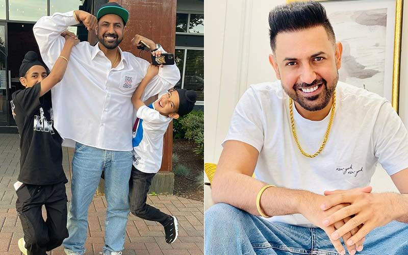 Gippy Grewal's Recent Reel Video With His Sons Ekom And Shinda Is The Cutest Thing On The Internet Today